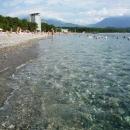 На пляже Курорта Пицунда. Абхазия.