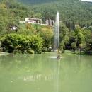 Фонтан Стрелец в Гагре. Абхазия.