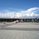 Стена Славы на центральной площади Олимпийского парка Сочи.