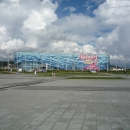 Центральная площадь Олимпийского парка. Вид на Олимпийские объекты.