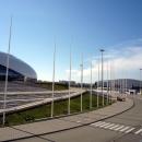 Вид на часть Дворца спорта Большой и керлинговый центр Ледяной куб.