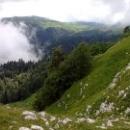 Альпийские луга Абхазии в горах Кавказа.