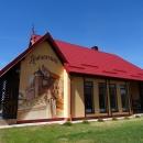 Кафе на территории обзорной площадки Приморского карьера по промышленной добыче балтийского янтаря.