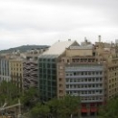 Вид на кварталы Барселоны с крыши Дома Мила.