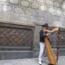 Уличные музыканты в Барселоне, Испания.