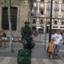 Живые фигуры бульвара Рамблас, Барселона.