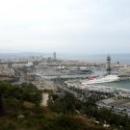 Вид на Средиземное море с горы Монжуик, Барселона.