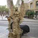 Ожившие фигурки на бульваре Ла Рамбла, Барселона.