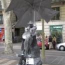 Живые скульптуры бульвара Рамблас, Барселона.