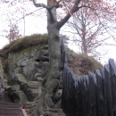 Лестницы древнего укрепления Нойратен. Бастай. Германия.