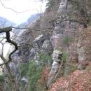 Виды Бастая и русло реки Эльбы. Германия.