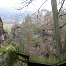 Вид из древнего укрепления Нойратен на природу Бастай. Германия.