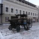 Карета Екатерины II на пешеходной ул. Баумана в Казани. Зимой в Казани.
