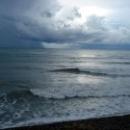 Черное море. Пляж Турбазы Приморская. Россия.