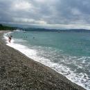 Отдых на пляжах на побережье Черного моря.