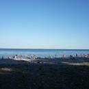 Отдых летом на берегу Черного моря.