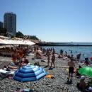 Пляж «Маяк». Центр Сочи.