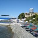 Пляж «Эдем» у отеля «Дельфин». Сочи.