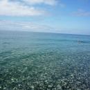 Голубой цвет воды у Белых скал. Гагра. Абхазия.