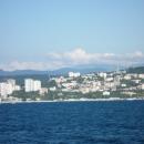 Вид Сочи с моря.