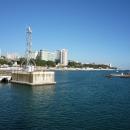 Вид на Приморскую набережную Сочи с акватории Морского порта.