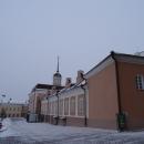 Пушечный двор в Казанском кремле зимой.