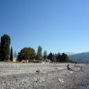 Пляж Цандрипш в Абхазии.