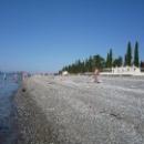 Пляж дома отдыха Псоу Цандрыпш. Абхазия.