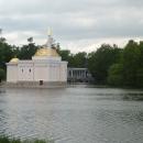 Вид на павильон «Турецкая баня» и Мраморный мост в Екатерининском парке. Царское село.