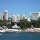 Центр Сочи со стороны моря.