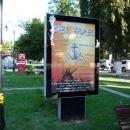 Реклама на рыночной площади Пицунды.