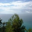 Вид с дачи Сталина в Абхазии на Черное море.