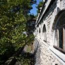 Боковой вид на дачу Сталина в Абхазии. Поселок Холодная речка.