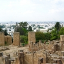 Вид на город Тунис с холма Бирса в Карфагене.