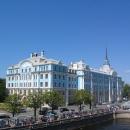 Виды на Нахимовское морское училище с палубы крейсера «Аврора». Санкт-Петербург.