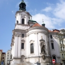 Храм Святого Николая на Староместской площади в Праге. Чехия.