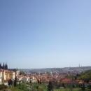 Вид на исторический центр Праги с одной из смотровых площадок города. Чехия.