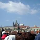 Вид на Пражский Град с Карлова моста в Праге. Чехия.