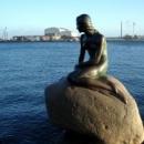 Памятник Русалочке в Копенгагене
