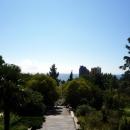 Вид с площадки-беседки на фонтан Сказка. Сочинский Дендрарий.