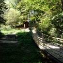 Древний дольмен и подвесной мостик. Сочинский Дендрарий.