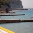 Участок пляжа на курорте Дивноморское.