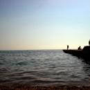 Вечер на пляже в Дивноморском.