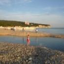 Маленькие заливчики на пляже. Дивноморское.