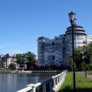 Верхнее озеро в Калининграде - место для пешеходных и велосипедных прогулок.