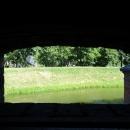 Вид из Башни Дона на ров с водой.