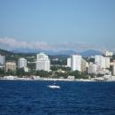 Вид на отель «Дельфин» в Сочи с моря.