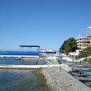 Пляжи у отеля «Дельфин» в Сочи.