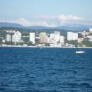 Центральная набережная Сочи. Вид с моря.