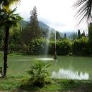Фонтан Стрелец. Старый парк Гагры. Абхазия.